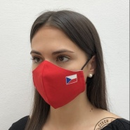 Face mask with Czech flag