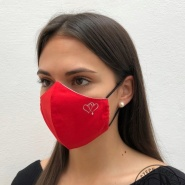 Face mask with SWAROVSKI CRYSTALS -  heart