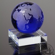 Glass Earth with stand